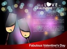 Abstracte achtergrond van de dag van Valentine ` s Achtergrondmalplaatje Stock Foto