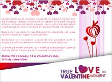 Abstracte achtergrond van de dag van Valentine ` s Achtergrondmalplaatje Royalty-vrije Stock Fotografie