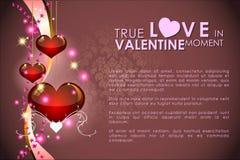 Abstracte achtergrond van de dag van Valentine ` s Achtergrondmalplaatje Royalty-vrije Stock Afbeelding