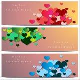 Abstracte achtergrond van de dag van Valentine ` s Achtergrondmalplaatje Stock Foto's