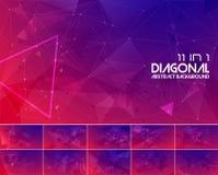 Abstracte achtergrond 2 van de Duotone diagonale lijn royalty-vrije illustratie
