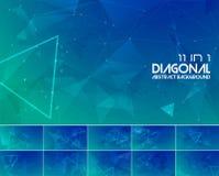 Abstracte achtergrond 3 van de Duotone diagonale lijn royalty-vrije illustratie