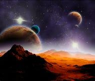 Abstracte achtergrond van diepe ruimte. Royalty-vrije Stock Afbeeldingen