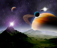 Abstracte achtergrond van diepe ruimte. Royalty-vrije Stock Foto