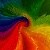 Abstracte achtergrond van draai trillende kleuren stock illustratie