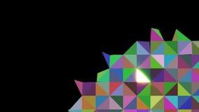 Abstracte achtergrond van driehoeken Het vullen met het rode driehoekenscherm vector illustratie