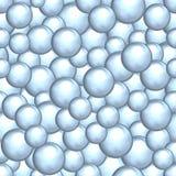 Abstracte achtergrond van een reeks parelachtige ballen Royalty-vrije Stock Foto