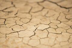 Abstracte achtergrond van gebarsten droog land, het effect van de schuine standverschuiving stock foto's