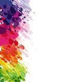 Abstracte achtergrond van gekleurde plonsen Stock Fotografie