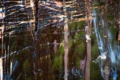 Abstracte achtergrond van gekrast hout in hars stock afbeeldingen