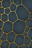 Abstracte achtergrond van geometrische cellen van natuurlijke vorm royalty-vrije illustratie