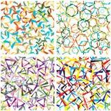Abstracte achtergrond van geometrische cijfers. Royalty-vrije Stock Afbeeldingen