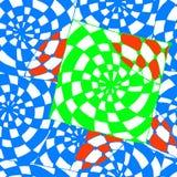 Abstracte achtergrond van geometrische patronen die blauwe cel trekken Royalty-vrije Stock Fotografie