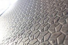 Abstracte achtergrond van geometrische vormen, vormen op de bestrating, een futuristische achtergrond van zeshoeken stock afbeelding