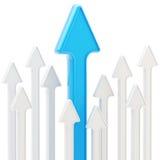 Abstracte achtergrond van glanzende pijlen op wit Royalty-vrije Stock Foto