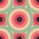 Abstracte achtergrond van het cirkels de naadloze patroon Stock Foto's
