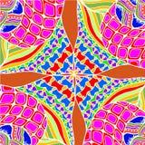 Abstracte achtergrond van het geometrische patronen trekken Stock Foto