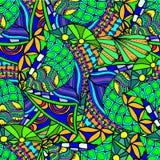 Abstracte achtergrond van het geometrische patronen trekken Royalty-vrije Stock Afbeeldingen