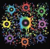 Abstracte achtergrond van het muziek de vinylverslag Stock Foto