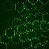 Abstracte achtergrond van hexagonale cellen Royalty-vrije Stock Foto's