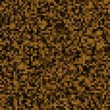 Abstracte achtergrond van kleine pixel Pixeltextuur voor uw projecten Donkere bruine aardekleur Vector illustratie stock illustratie