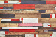 Abstracte achtergrond van kleur en houten elementen Royalty-vrije Stock Afbeelding