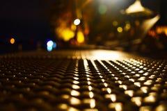 Abstracte achtergrond van kleurrijke de nachtlichten van het stadshotel Royalty-vrije Stock Foto's