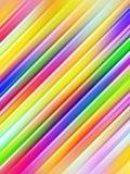 Abstracte achtergrond van kleurrijke diagonale pijpen Royalty-vrije Stock Foto's