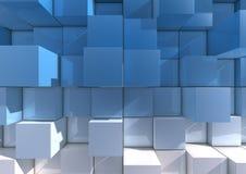Abstracte achtergrond van kubussen Stock Afbeeldingen