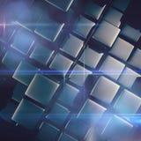 Abstracte achtergrond van kubussen Stock Foto