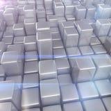 Abstracte achtergrond van kubussen Stock Fotografie