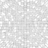 Abstracte achtergrond van kubussen en vierkanten Royalty-vrije Stock Foto's