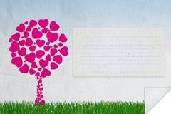 Abstracte achtergrond van liefde Stock Afbeelding