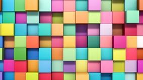 Abstracte achtergrond van multi-colored kubussen Royalty-vrije Stock Foto's