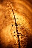 Abstracte achtergrond van oude geteerde houten planken van de oude boot Royalty-vrije Stock Fotografie