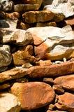 Abstracte achtergrond van rode rotsen Stock Fotografie