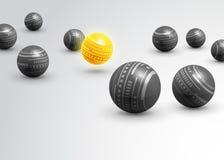 Abstracte achtergrond van technologie de grijze ballen Stock Afbeeldingen