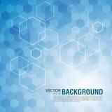 Abstracte achtergrond van zeshoeken Vector illustratie Royalty-vrije Stock Afbeeldingen
