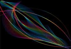 Abstracte achtergrond, vector, gestileerde golven, Royalty-vrije Stock Fotografie