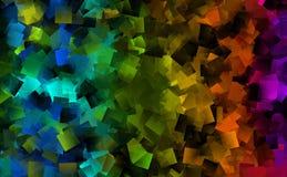 Abstracte achtergrond in vele kleuren Stock Afbeelding