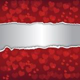 abstracte achtergrond Verfraaid met rode harten Stock Fotografie