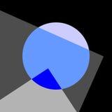 Abstracte Achtergrond voor Affiche Vectorillustrationin Minimalism Royalty-vrije Stock Foto