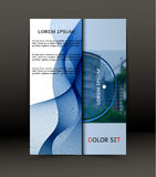 Abstracte achtergrond voor brochure, dekking Malplaatje voor de affiche Vector Stock Fotografie