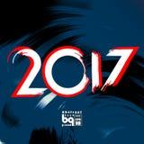 Abstracte achtergrond voor ontwerp 2017 Royalty-vrije Stock Afbeeldingen