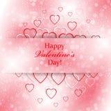 Abstracte achtergrond voor Valentijnskaartendag met harten Royalty-vrije Stock Afbeeldingen