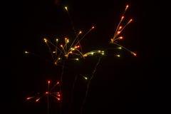 Abstracte Achtergrond: Vuurwerk die als ATO verdelen Royalty-vrije Stock Afbeelding