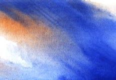 Abstracte achtergrond in waterverftonen met nat inkteffect royalty-vrije stock foto's