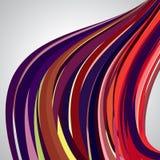 Abstracte achtergrond, wervelende lijnen, kleurrijke vectorillustratie Stock Afbeelding