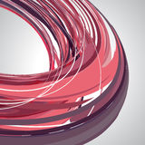 Abstracte achtergrond, wervelende lijnen, roze vectorillustratie Royalty-vrije Stock Fotografie