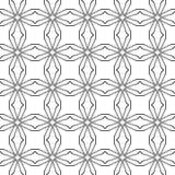 abstracte achtergrond Zwart-wit geometrisch naadloos patroon Royalty-vrije Stock Foto's